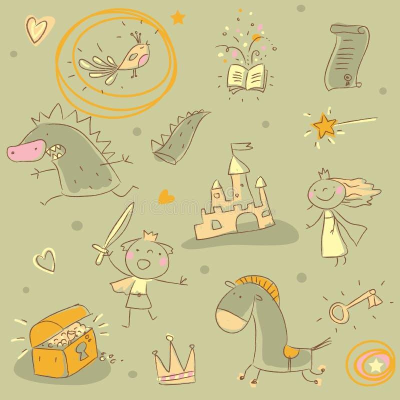 Kids pattern stock illustration