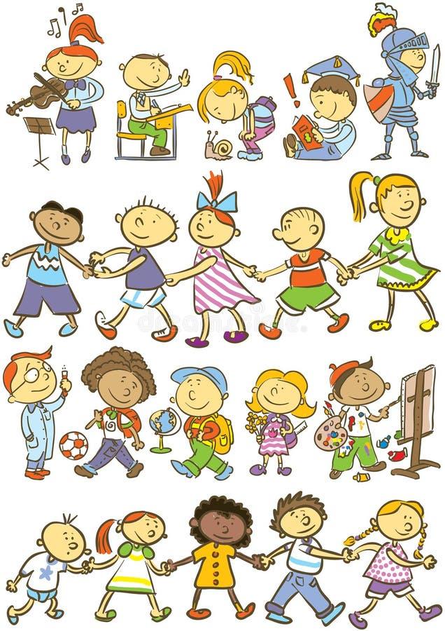 Kids pattern royalty free illustration