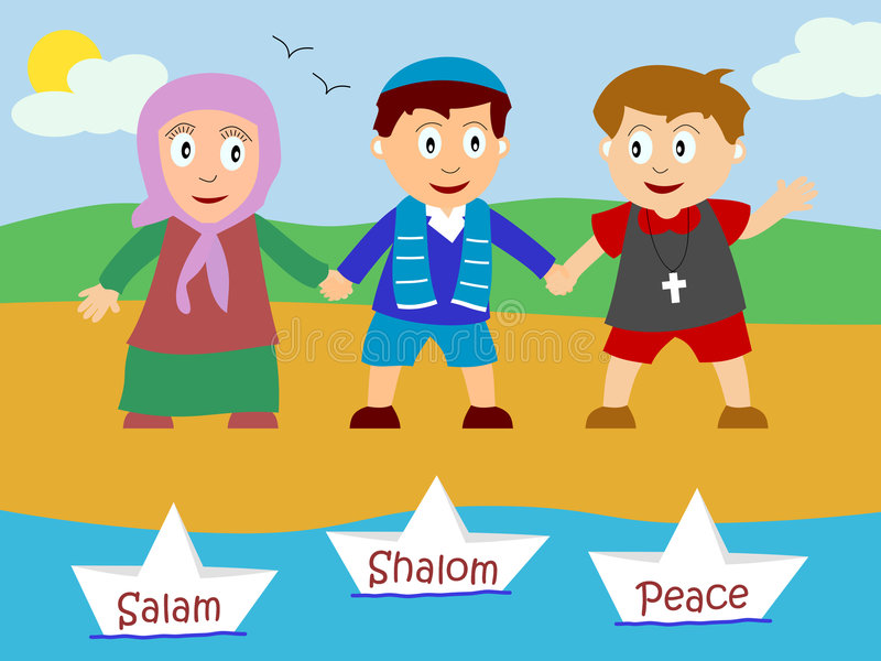 Kids for Peace stock illustration
