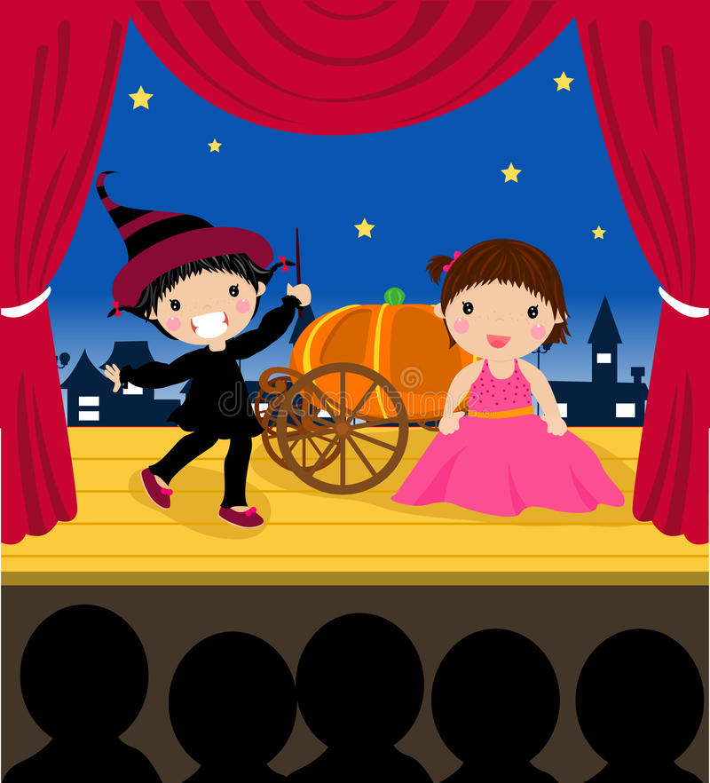 Download Kids in the performance stock vector. Image of october - 21186715