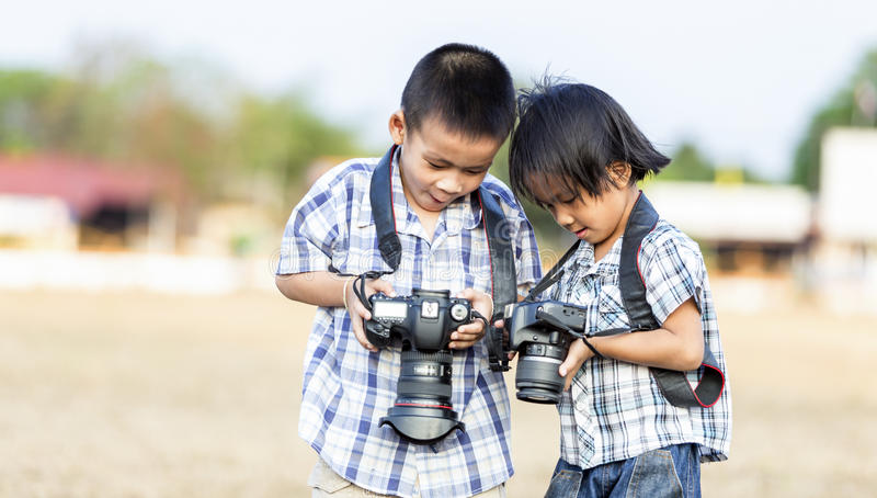 Kids photographer royalty free stock photos