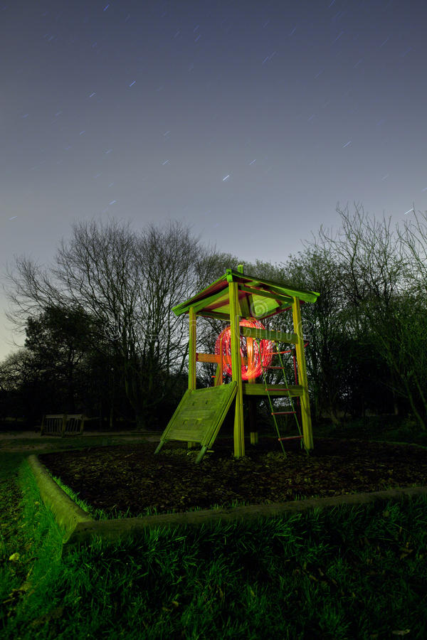 Kids Play Area At Night Royalty Free Stock Photo