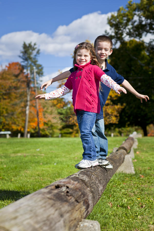 Kids playing stock image