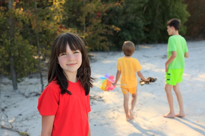 Download Kids playing on beach stock image. Image of colourful - 11539307