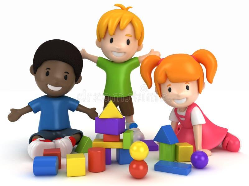 Download Kids Playing Building Blocks Royalty Free Stock Photo - Image: 20787565