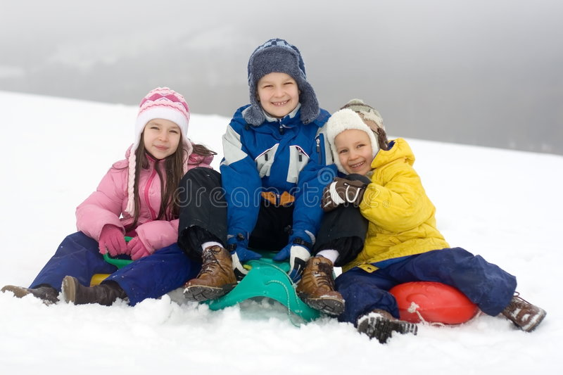 Download Kids Playing in Fresh Snow stock photo. Image of children - 1871964