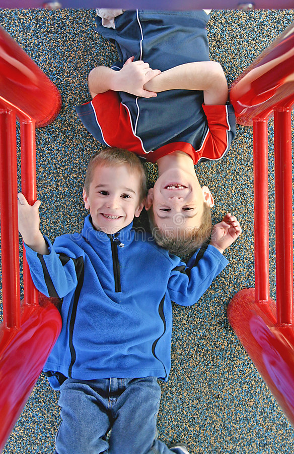 Kids Playing At The Playground Stock Image