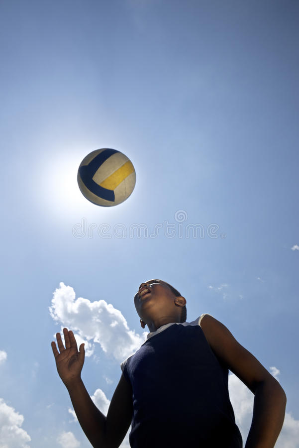 Download Kids Playing Soccer Game, Young Boy Hitting Ball In Park Stock Images - Image: 30739504