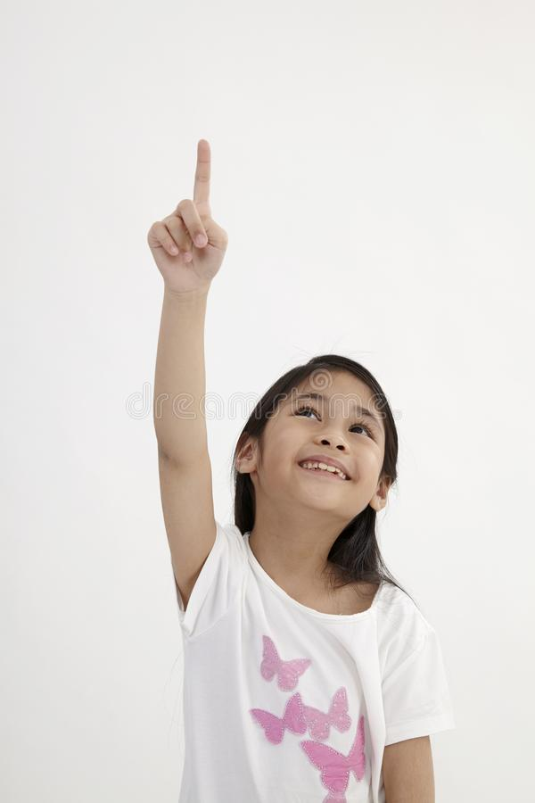 Kids pointing royalty free stock images
