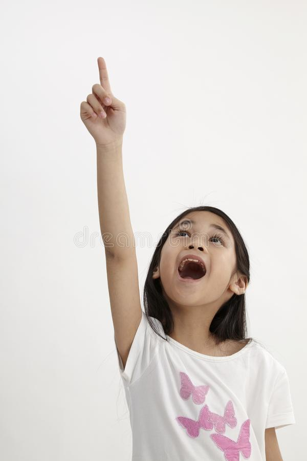 Kids pointing stock images