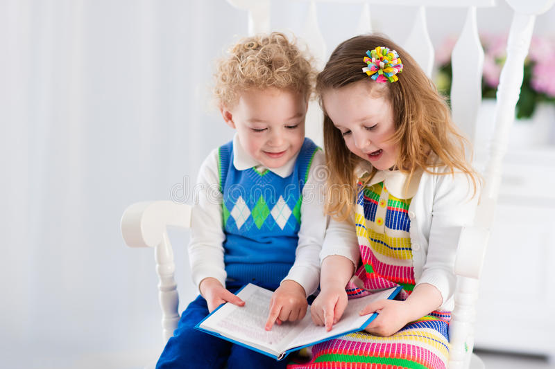 kids reading a book stock image  image of happy  little