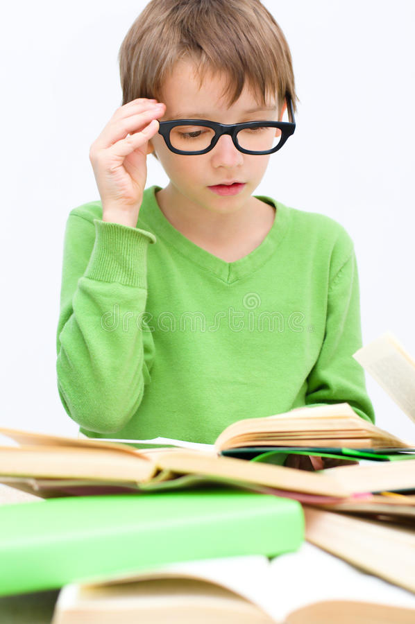 Kids reading stock photography