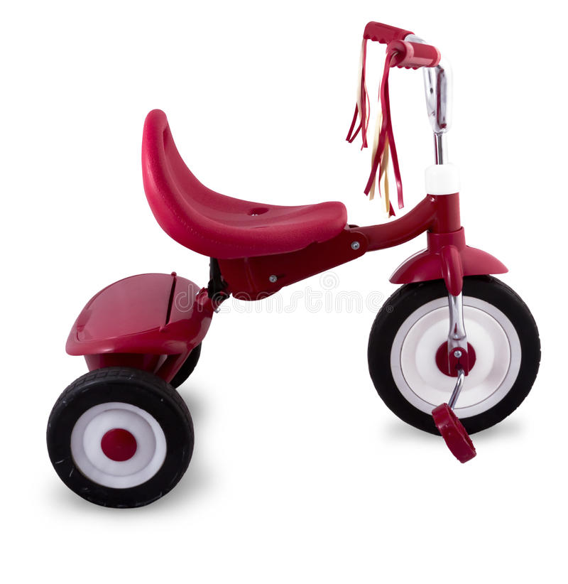 Kids Red Tricycle royalty free stock image