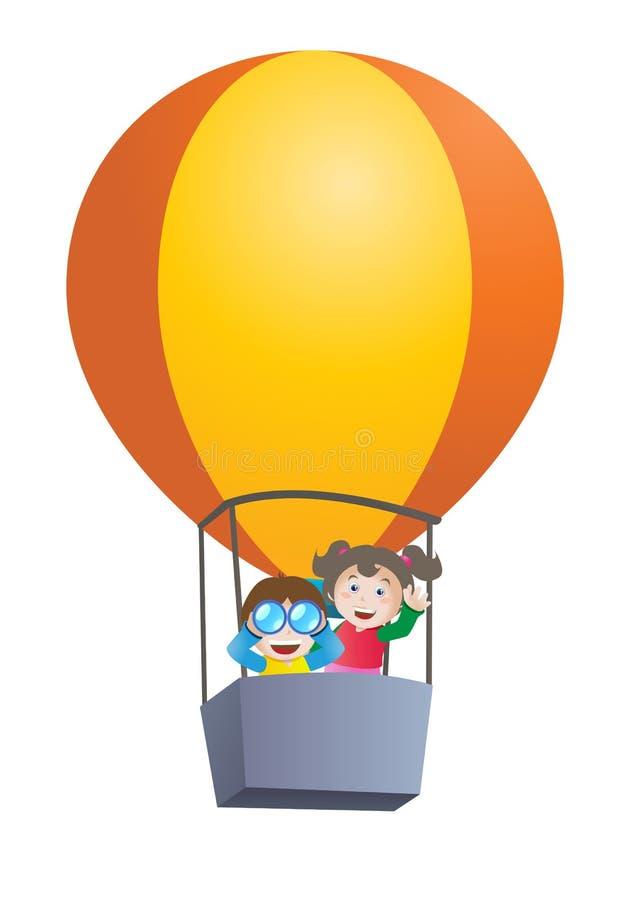 Download Kids Riding Hot Air Balloon Stock Illustration - Image: 24550559