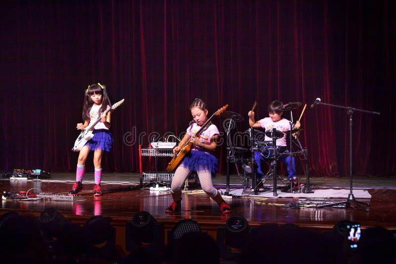 Kids rock band stock image