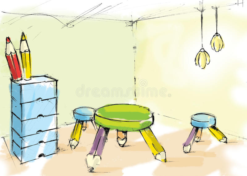Download Kids room stock illustration. Illustration of apartment - 13536957
