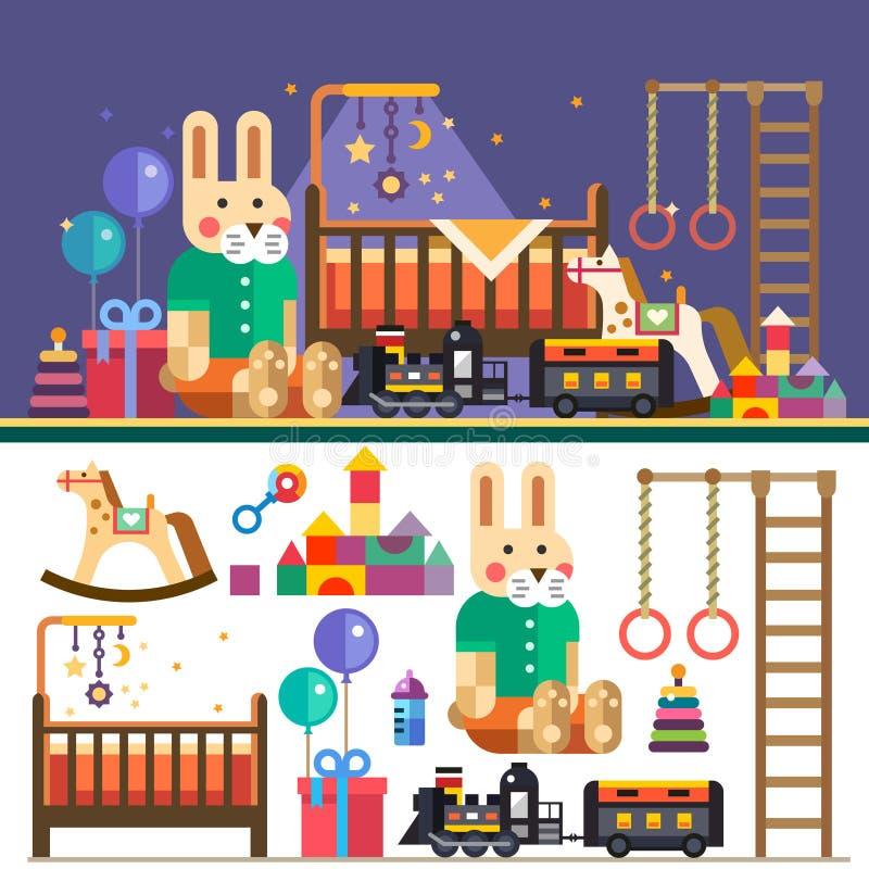 Kids room interior royalty free illustration