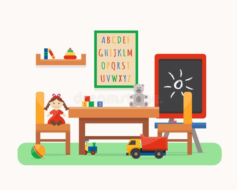 Kindergarten Preschool Playground. Stock Vector ...