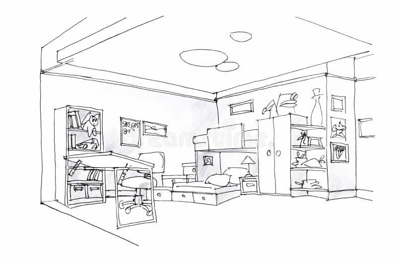 Kids Room Sketch Stock Illustrations 913 Kids Room Sketch Stock Illustrations Vectors Clipart Dreamstime