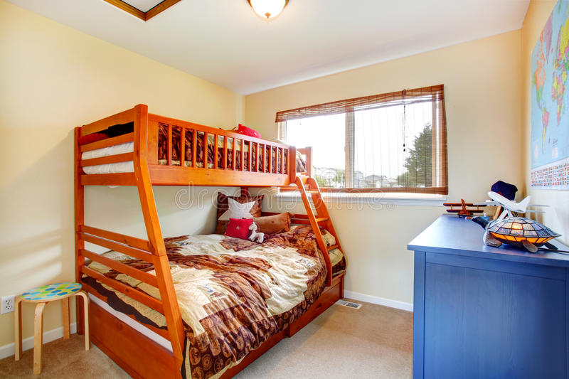 Kids room with two level bed royalty free stock photography