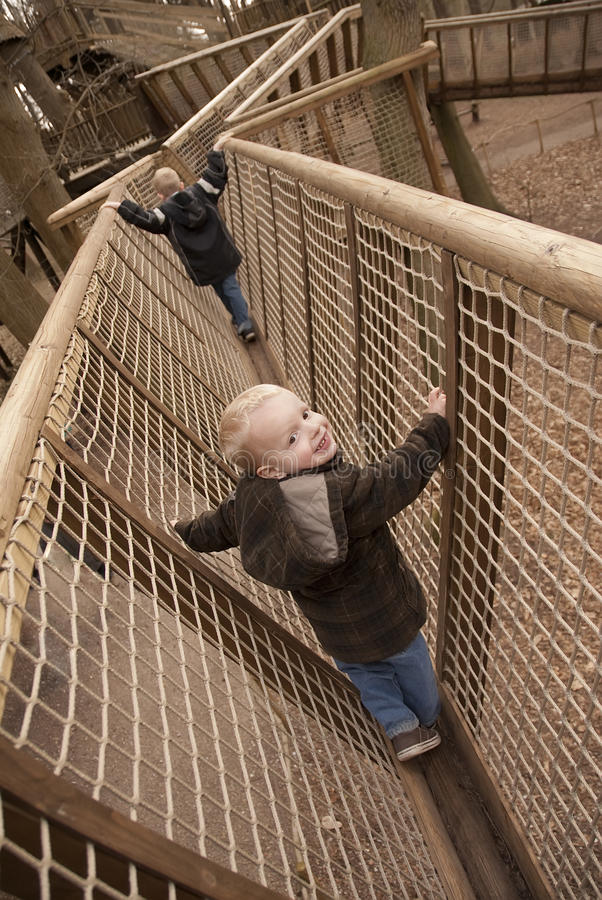 Kids Rope Course royalty free stock images