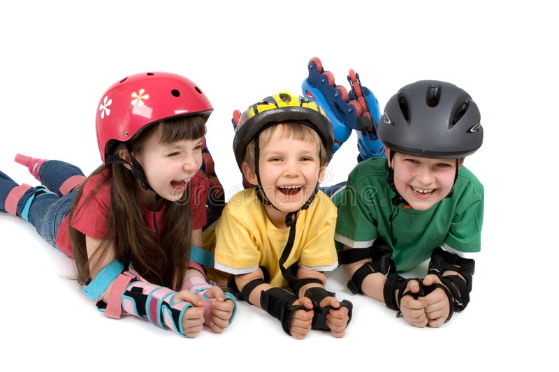 Download Kids in Safety Gear stock image. Image of children, happy - 2191517