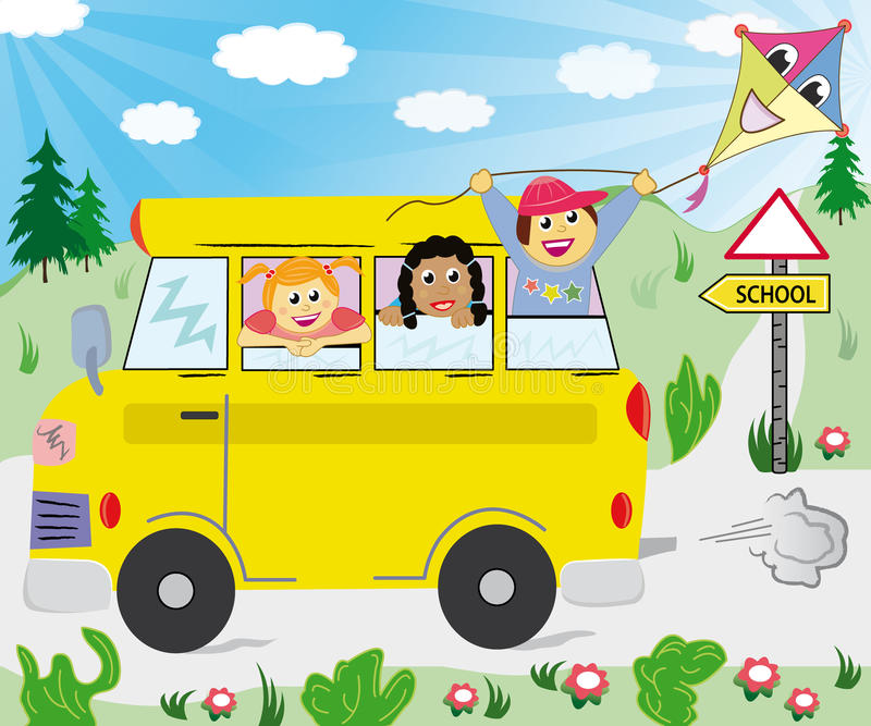 Download Kids In The School Bus Royalty Free Stock Photos - Image: 15265888