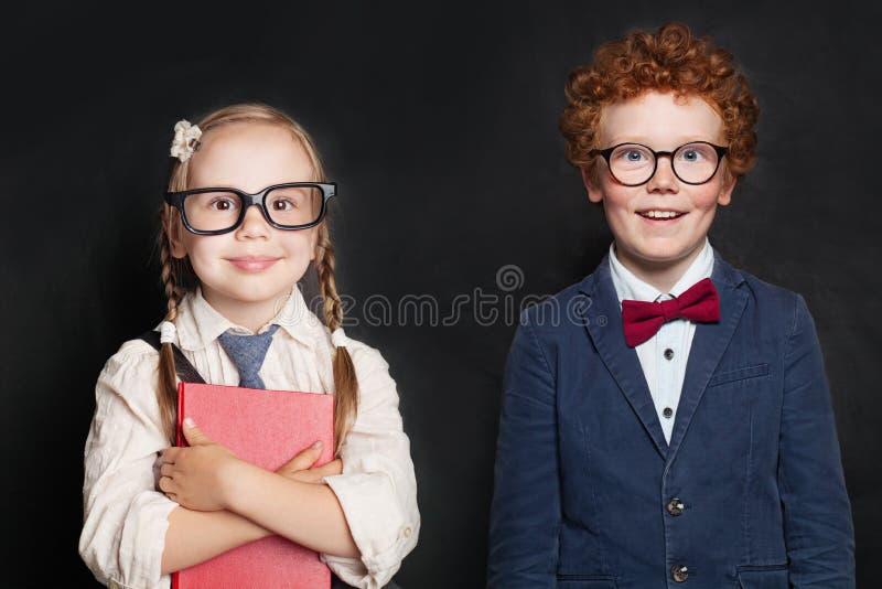 Kids in school uniform, back to school concept stock photo