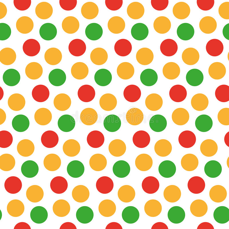 Kids seamless pattern with polka dots. Bright festive background, texture with circles. Vector illustration. royalty free illustration