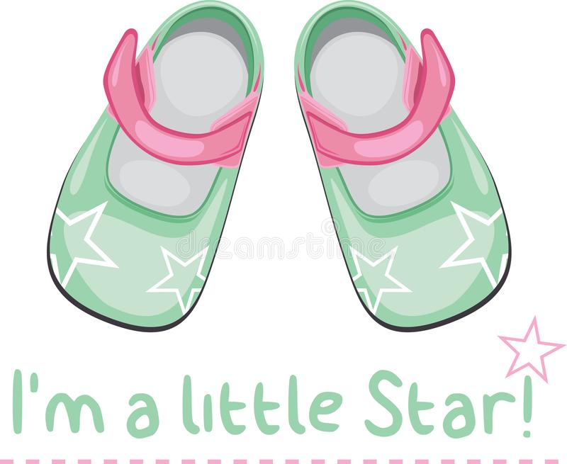 Kids shoes. Icon for design stock image