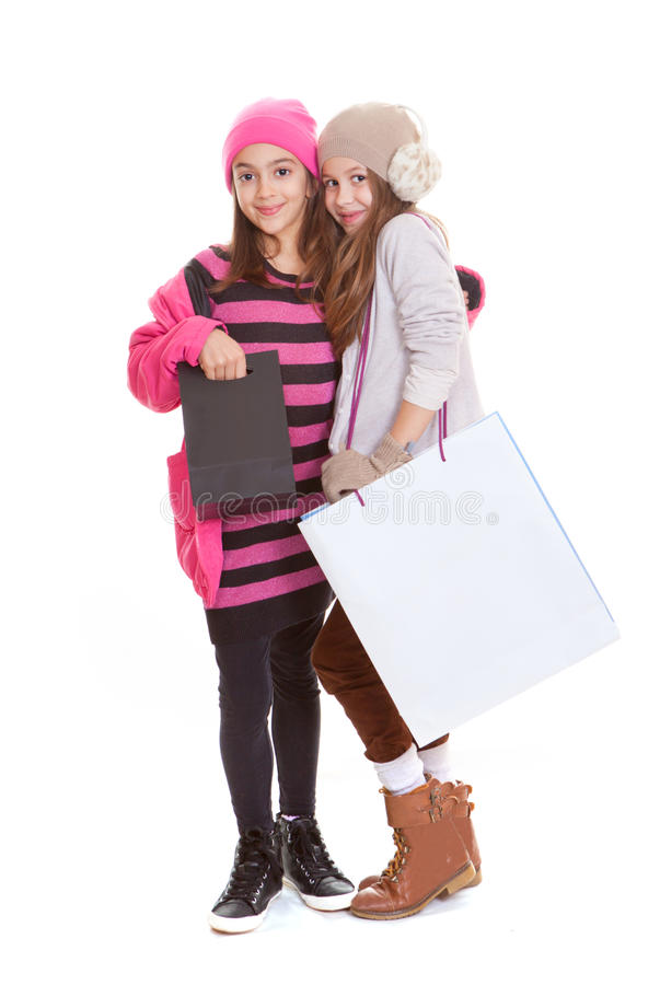 Download Kids shopping bags stock photo. Image of young, smiling - 29214256