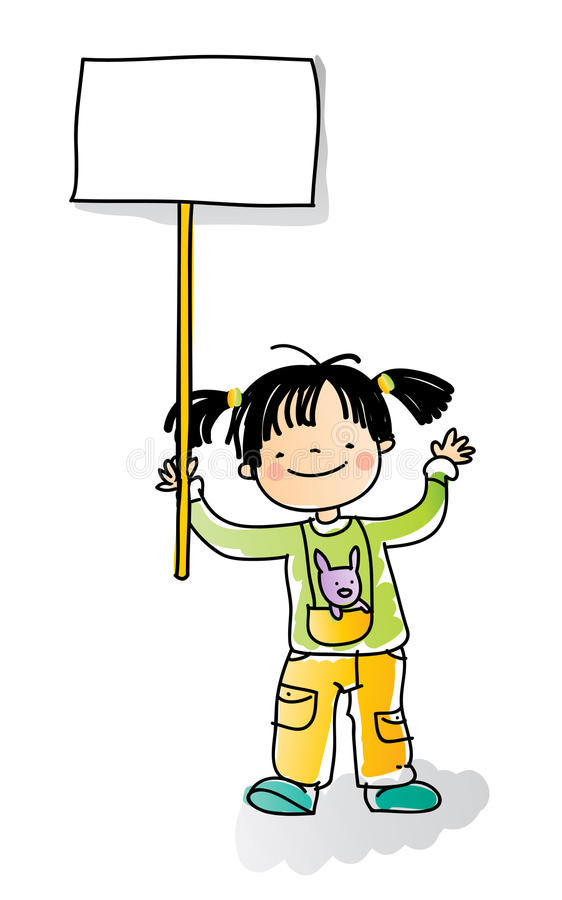 Kids sign stock illustration