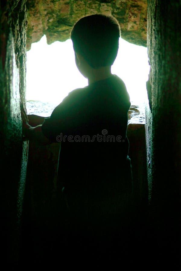 Kids Silhouette stock image