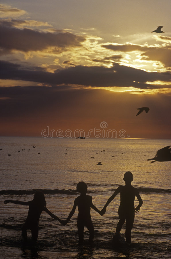 Download Kids at Silhouette stock image. Image of swimming, swim - 9082335