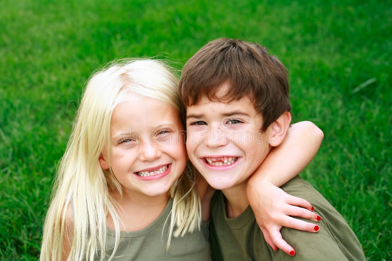 Kids Smiling Big stock images