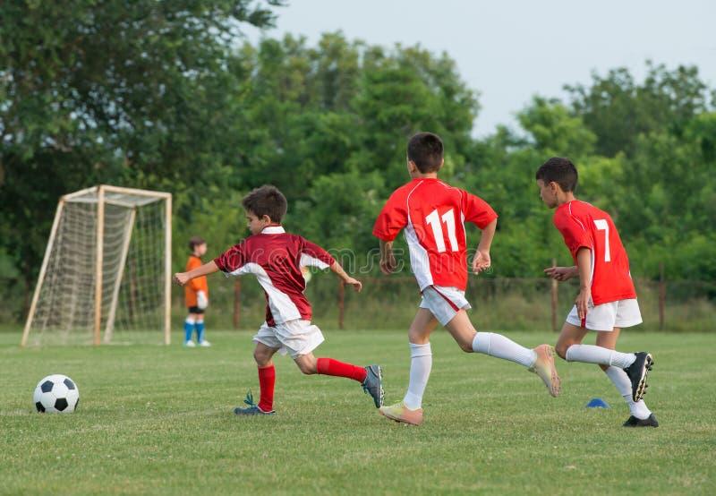 Kids' soccer stock image