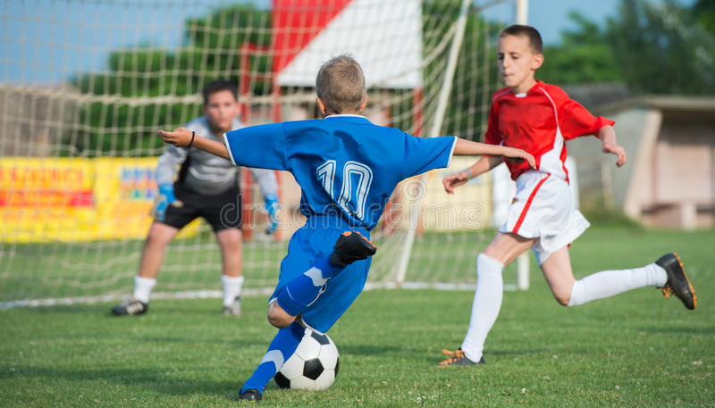Kids' soccer royalty free stock photography