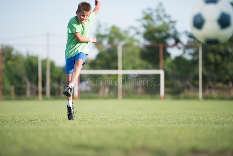 Kids soccer stock image