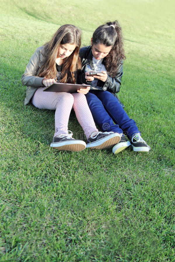 Kids On Social Networks Stock Image