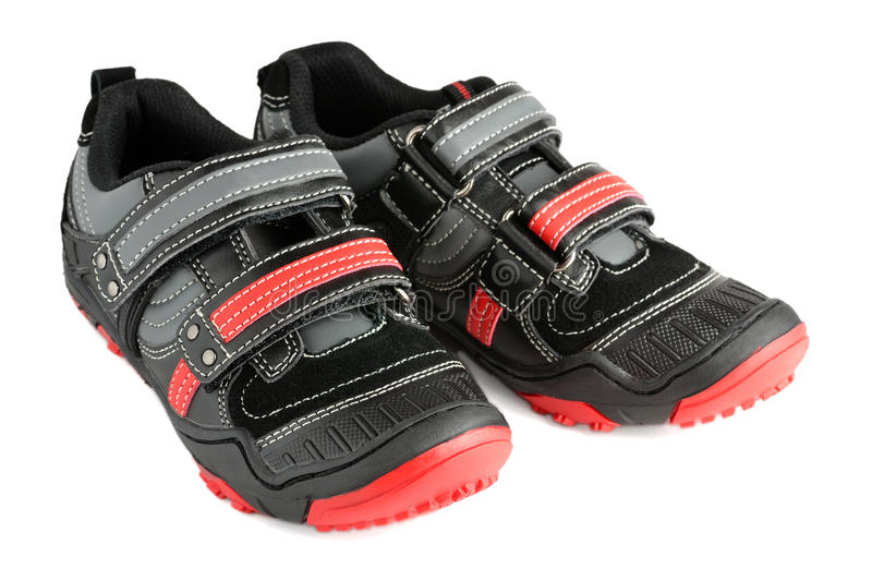 Kids sports shoes royalty free stock photography