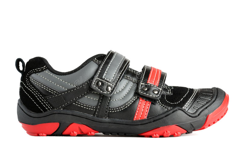 Kids sports shoes stock image