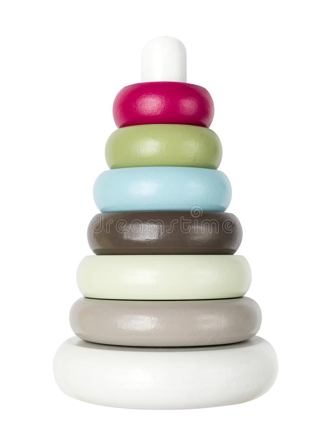 Download Kids stacking tower toy stock image. Image of baby, wood - 33544811