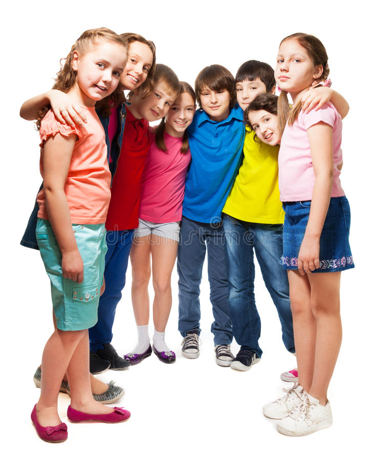 Download Kids Standing In Semi-circle Stock Photo - Image: 29521828