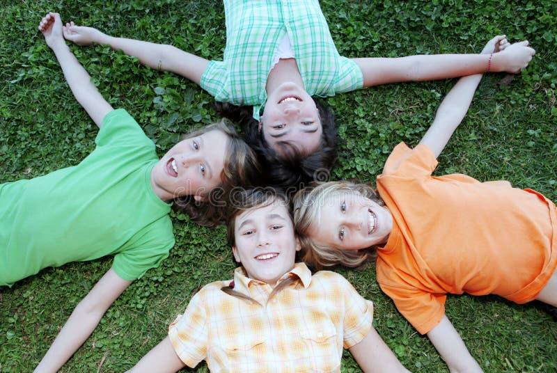 Kids at summer camp royalty free stock photo