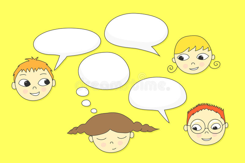Download Kids Talking stock vector. Illustration of bubble, cute - 20845381