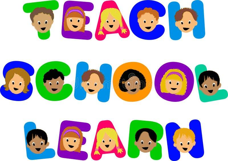 Kids Teach School Learn stock illustration