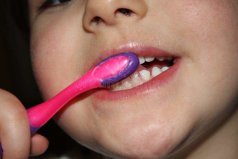 Kids teeths - closeup look stock photo