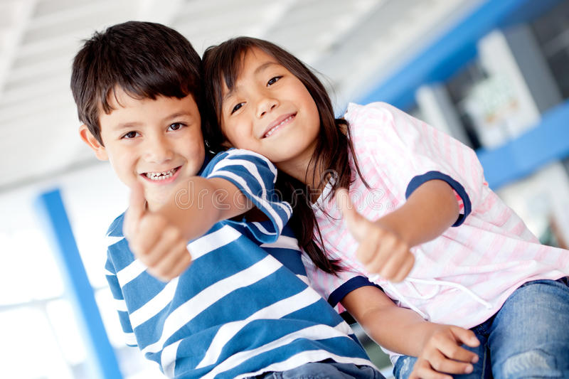 Download Kids with thumbs up stock image. Image of agreement, happy - 23764349