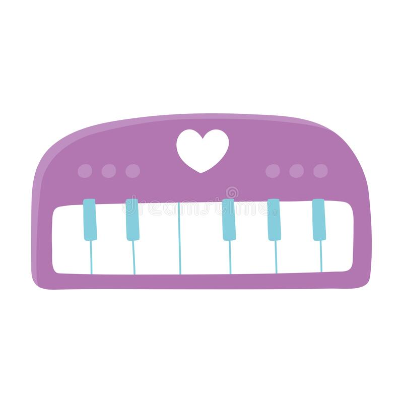 Free Kids Toys Piano Music Instrument Isolated Icon Design White Background Royalty Free Stock Photography - 192024507