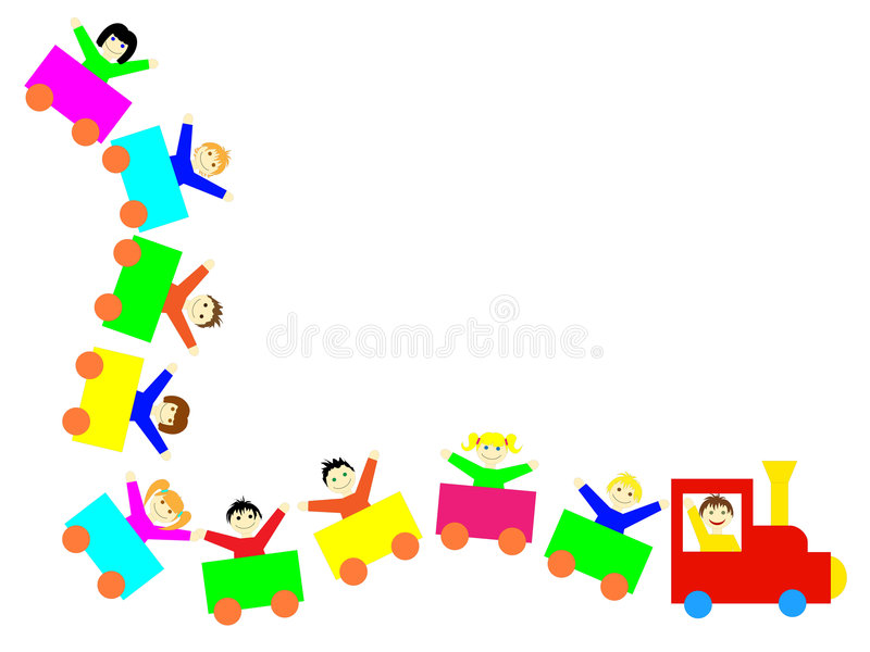 Download Kids Train - With Clipping Path Stock Vector - Image: 7764119